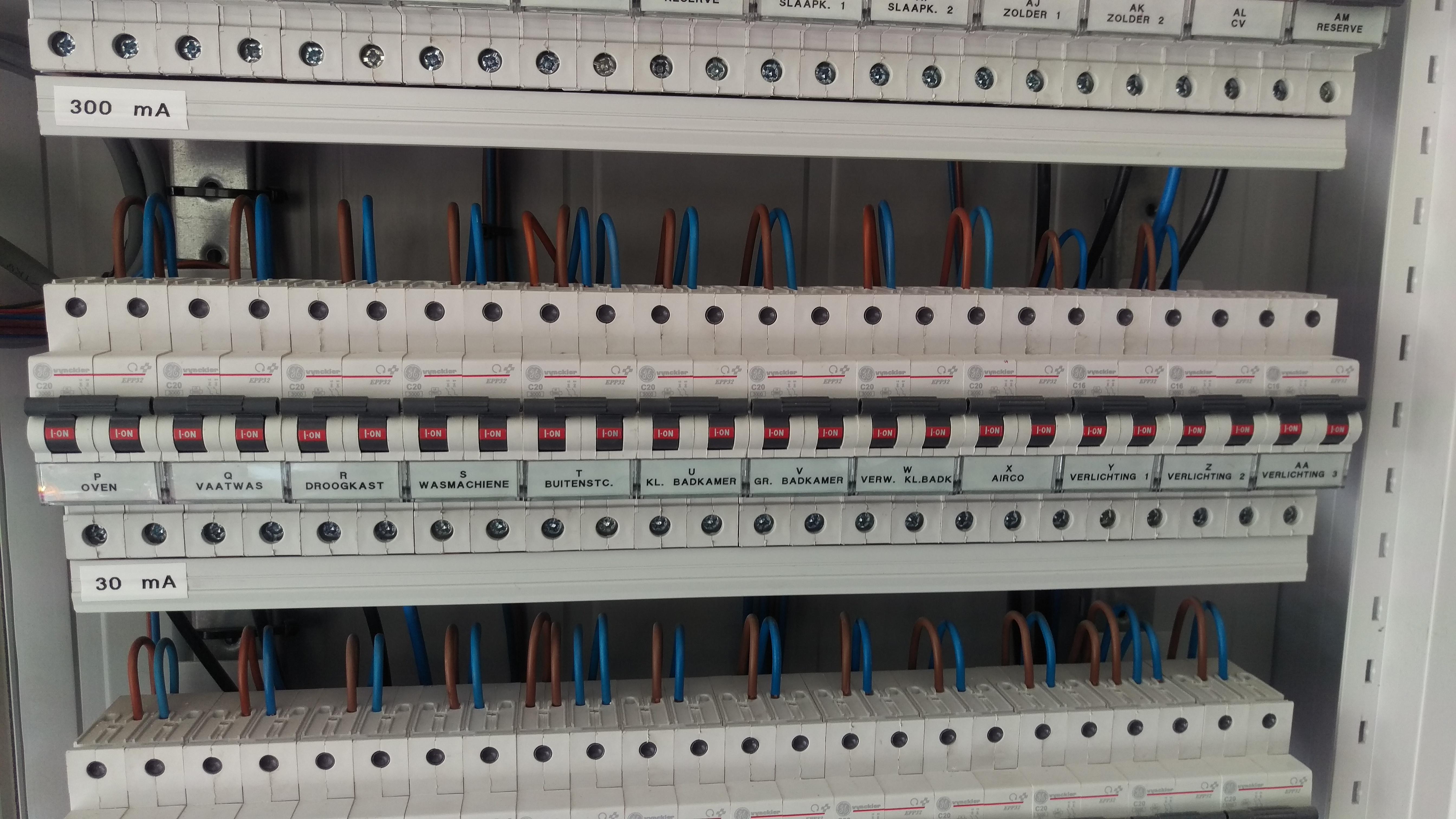 elektriciteitswerken zekeringkast